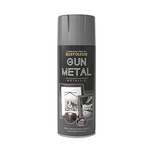 Rust-Oleum 400ml Sprayfarbe mit Metallic-Look–alle Farben, grau
