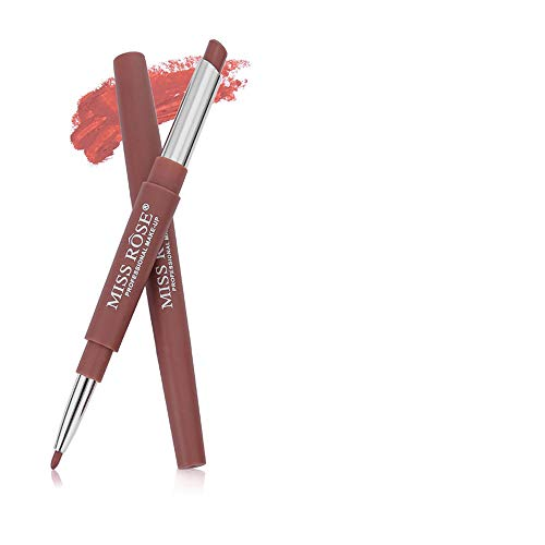 BHYDRY Miss Rose Doppelseitiger Dauerhafter Lipliner Wasserfester Lip Liner-Stift 20 Farben - Natur Matt Lippenstift