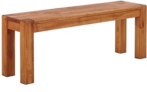 Brasilmöbel Sitzbank 100 cm Rio Kanto Honig Pinie Massivholz Größe und Farbe wählbar Esszimmerbank Küchenbank Holzbank Echtholz passend zum Tisch und Stühlen Maxibank Maxihocker