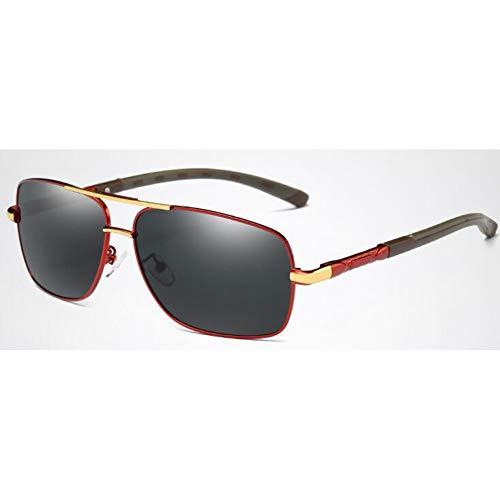 TDPYT Polarisierte Sonnenbrille Männer Rechteck Mann Sonnenbrille Herren Polar Driver Brille Eyewear