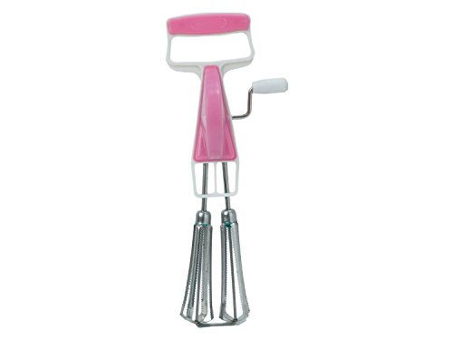 CONNECTWIDE Beater, Stainless Steel Egg Beater Lassi/Butter Milk Maker/Mixer Hand Blender. Qty.(1 pc) Size-28.5 x 4 x 7 cm, (Pink)