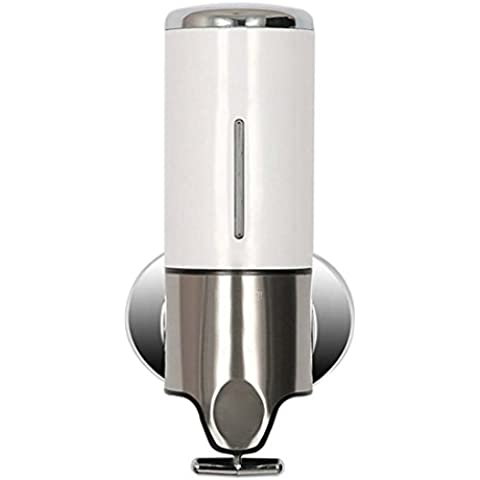 Dispensador de jabon - SODIAL(R)Montaje en pared Dispensador de jabon de la mano Bano Cocina Liquido Locion Botella Champu Gel de Ducha Caja de acero inoxidable ABS (500ML,
