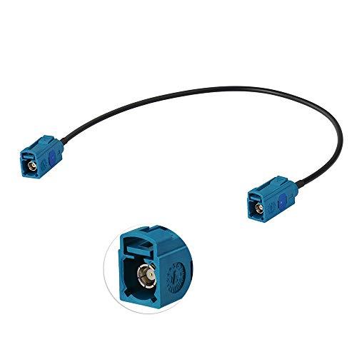 Eightwood DAB Antenne Fakra Adapter Auto Radio TV DAB GPS Fakra Z Buchse(Jack) auf Fakra Buchse Pigtail Fakra Kabel RG174 12inch 1ft 30cm für Audi Seat Skoda VW Golf MEHRWEG 12 Zoll Kabel