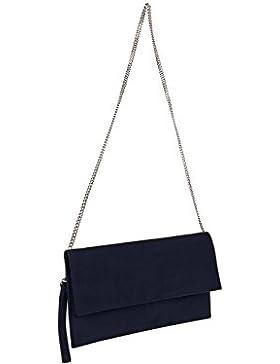 Scarlet bijoux-Damen Clutch Tasche Unterarmtasche Abendtasche Umhängetasche ca. 31 x 17 x 1 cm ( B x H x T )