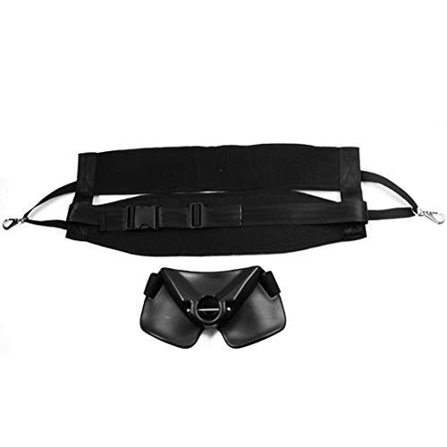 Dhrfyktu Cinturón de Soporte de Varilla de Cintura de Soporte Ajustable para Pesca (Negro-Grande) (Color : Black)