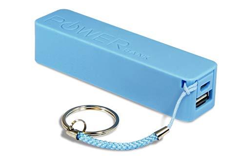 Batterie Externe 2600 mAh Power Bank Power Ultra Compacte de Secours Sorties USB et Cable Micro USB Compatible pour Archos 50b Cobalt Lite (5''Pouces) (Power Bank Bleu)