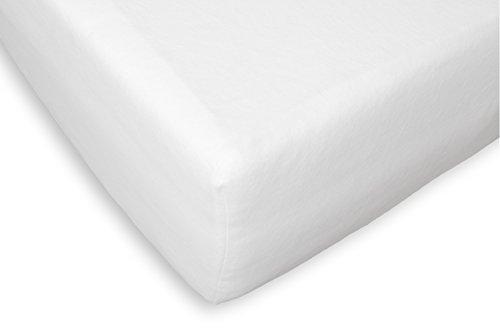 Briljant Home - Protector de colchón, muletón, algodón, Weiß, 180 X 210 X 40 cm