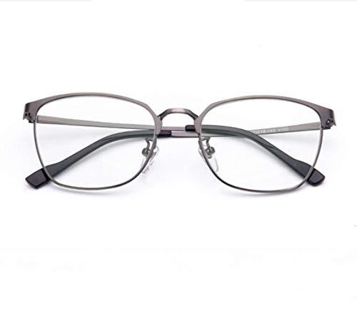 Lesebrille, Anti-Blaulicht Mode Full-Frame-Metall-Brille, komfortable alte HD-Alterungsbrille weiblich (Farbe : Gray, größe : 2.5X)