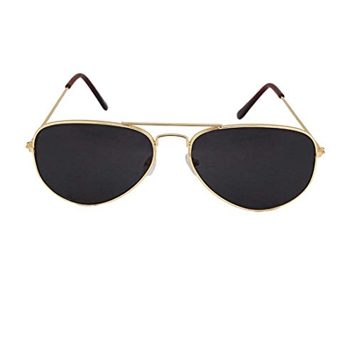 UV Protected Stylish Aviator Sunglasses for Girls and Boys ( Golden-Black ) ( YS-AVSG-08 )  available at amazon for Rs.199