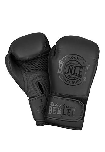 BENLEE Rocky Marciano Unisex - Erwachsene Black Label Nero Artificial Leather Boxing Gloves, 14 oz
