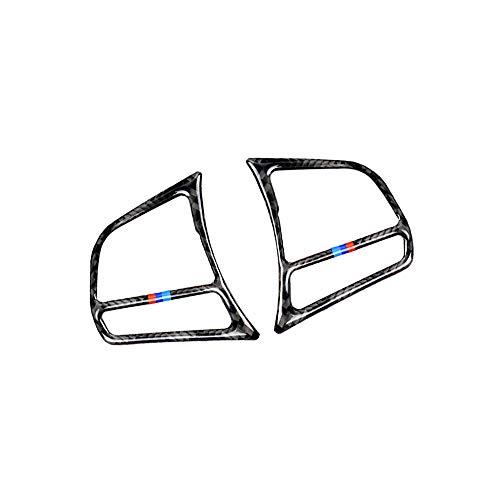 Carrfan Autocollant Couverture de Bouton de Volant de Voiture en Fibre de Carbone Garniture Cadre décoration pour BMW F30 F31 F32 F33 F34 (2012-2020)