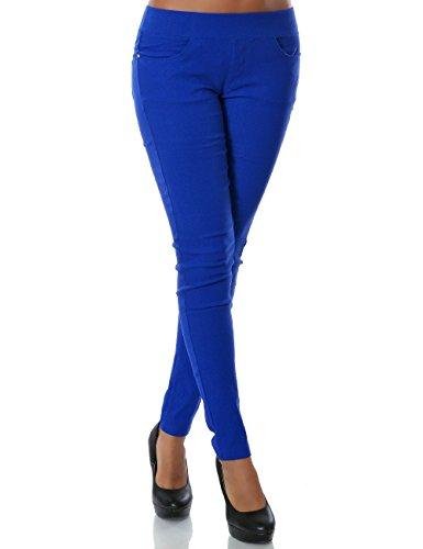 Damen Treggings Hose Skinny (Röhre weitere Farben) No 14028, Farbe:Schwarz;Größe:44 / 2XL