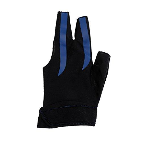 Gazechimp Billard Sport Links Hand Handschuh - Billardhandschuh - Blau Schwarz