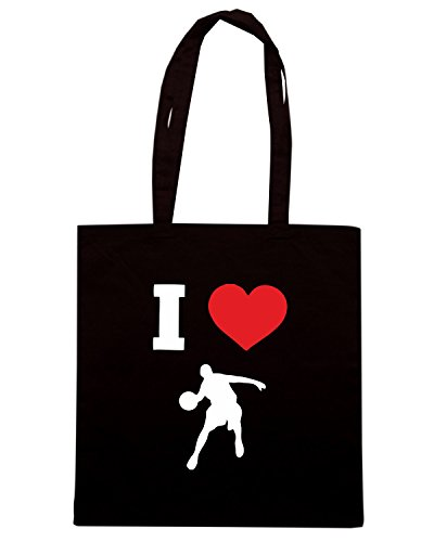T-Shirtshock - Borsa Shopping TLOVE0098 i love basketball Nero