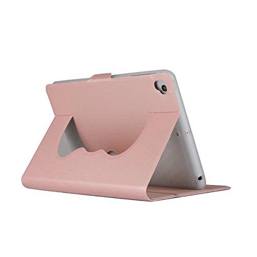 TechCode iPad Mini 1 Hülle, Mini 2 Hülle, Premium PU Leder Nette Reizende Muster Leichte Slim Fit Folding Flip Stand Folio Abdeckungs Fall für 7,9 Zoll iPad Mini 1/2/3/4 (Rose Gold) (Gold Ipad Mini 1 Fall)