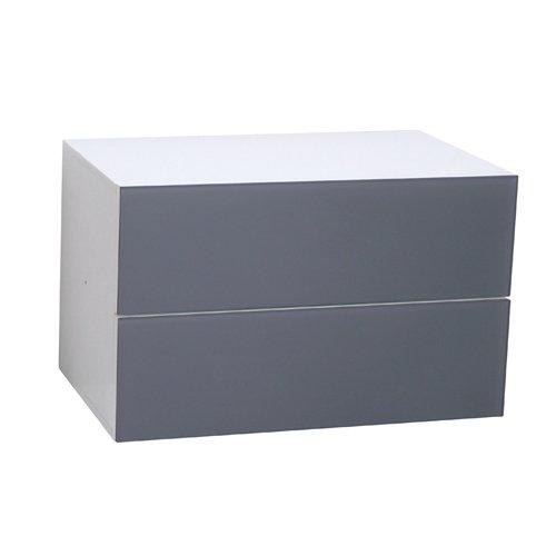 Phoenix 118831RG Leonardo - Schubladencontainer mit Glasfront breit (Couchtisch Sperrholz)