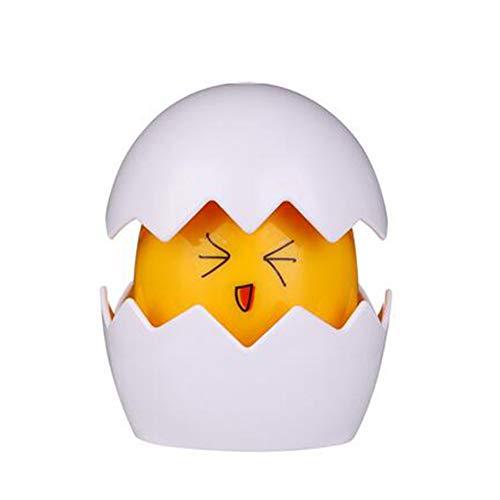 Magisches Tragbare Nachtlicht Ei-förmige Buntes Regenbogen Licht Reflexion Lampe Kinderzimmer Glücklicher Geschenk für Kinder,Yellow (Reflexiones Halloween Del)
