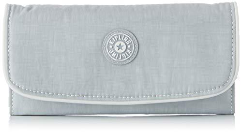 Kipling Damen SUPERMONEY Geldbörse, Grau (Active Grey Bl), 20x10x3 cm