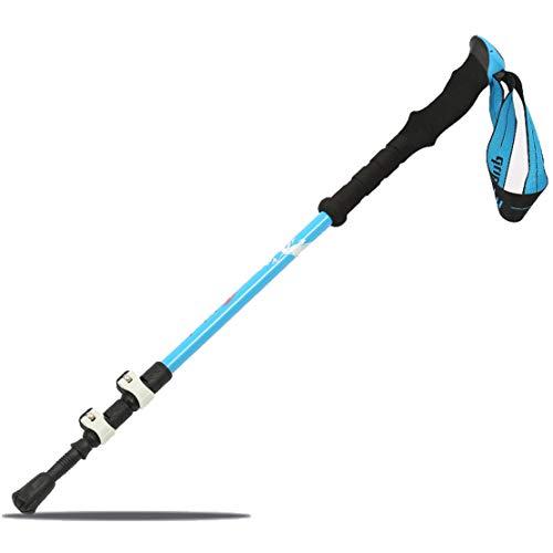 HIOD Kohlefaser Wanderstock Stick Gehen Wandern Tragbar Teleskop Rod Mit Eva-Griff 135 cm Für Camping,Blue,2PC