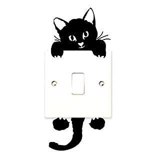 Auxma Cute Funny Schalter Katze Wand Sticker Lichtschalter Decor Aufkleber Kunst Wandbild
