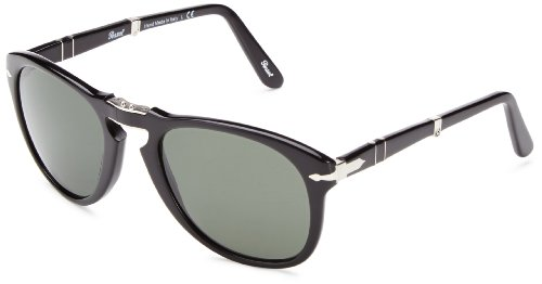 Persol 0po0714 95/31 52 occhiali da sole, nero (black/grey green), unisex-adulto
