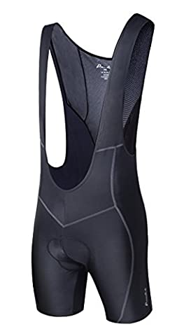 Przewalski Men's 3D Padded Cycling Bike Bib Shorts, Excellent Performance and Better Fit (Black,