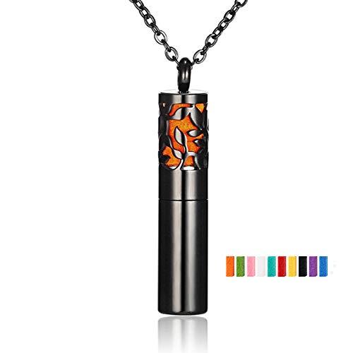CLHCilihu Aroma Essential Oil Diffuser Halsketten-Anhänger Flasche,