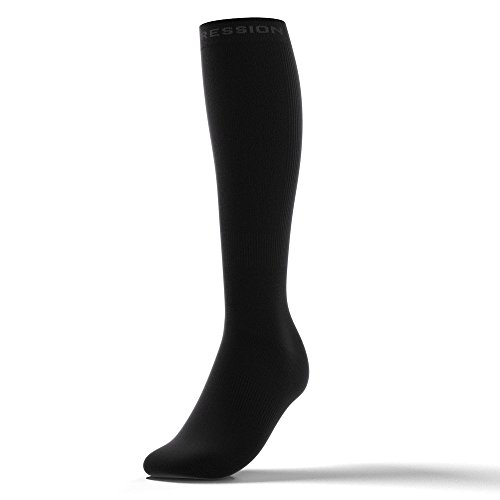 ACTIVE COMPRESSION Reisestrümpfe, TRAVEL/RECOVERY socks (35-37, Schwarz)