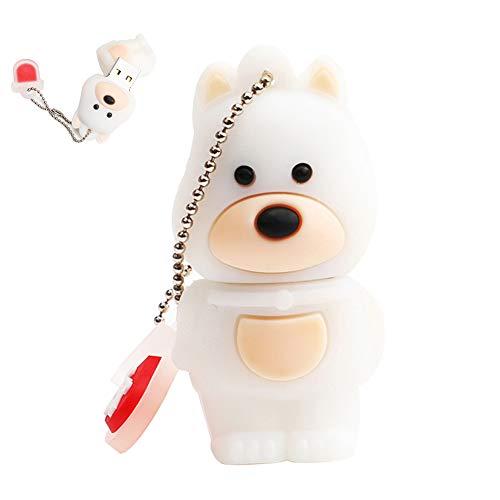 Shuda - Memoria USB 2.0 con forma de perro (PVC, 4 GB, 8 GB, 16 GB, 32 GB, 64 GB) 51.3 * 28.1 * 17.1mm 4g