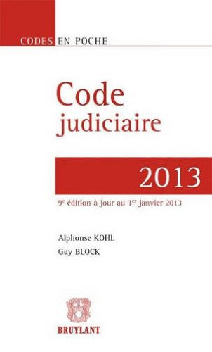 Code judiciaire 2013