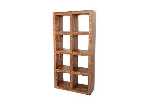 DuNord Design Regal Wandregal Jakarta 180cm Palisander Massiv Holz Massivholz Raumteiler Sideboard