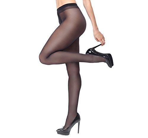Miss O Ouvert Strumpfhose 40den glänzend mit offenem Schritt (Black, S/M)