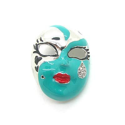 JinFMin Diamantbrosche Niedliche Maske Brosche Klassische Maske Smiley 31 Mm * 41 Mm, Grün -