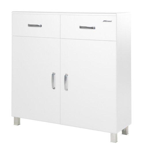 Miami 725701WE Schuhschrank mit 2 Türen und 2 Schubladen Holz Weiss 37 x 110 x 111 cm