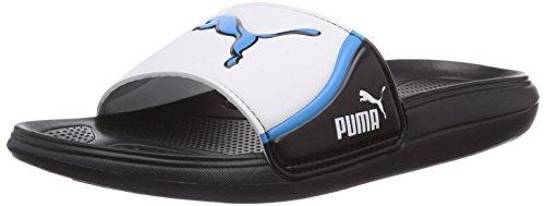 Puma Cat Slide TS Unisex-Erwachsene Dusch- & Badeschuhe Schwarz (black-white-hawaiian ocean 01)