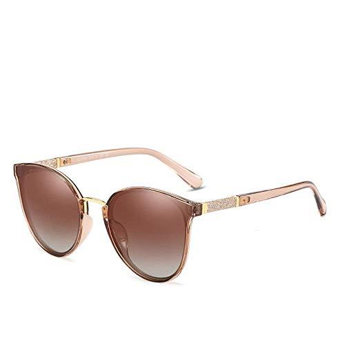 BJYG Sportbrillen UV400 Schutz Retro Round Unisex Polarized Sonnenbrillen Laufen, Reiten, Angeln Sonnenbrillen (Farbe: Kaffee) -