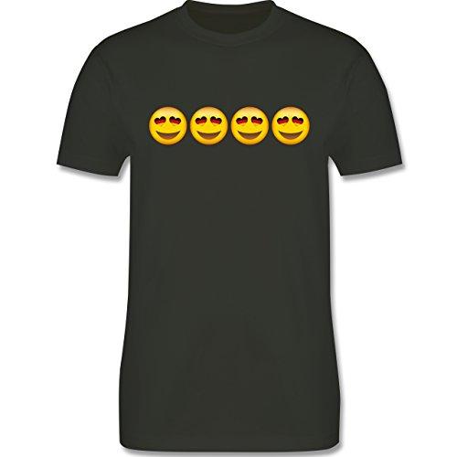 Comic Shirts - Verliebter Emoji Deutschland - Herren Premium T-Shirt Army Grün