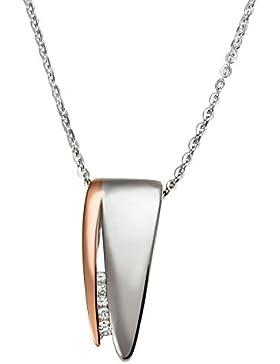 Goldmaid Damen-Halskette 925 Sterlingsilber 5 weiße Diamanten (0.05 ct) Kettenanhänger