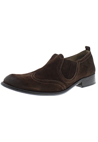 Fly London  Wyat, mocassins homme Marron - Daim ciré Marron espresso