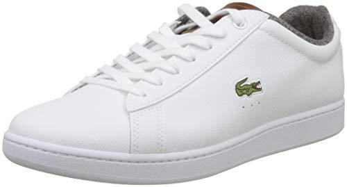 Lacoste Sport Herren Carnaby Evo 318 2 SPM Sneaker, Weiß (Wht/BRW 385), 42 EU