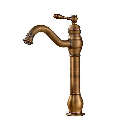 Hohe Kommerzielle Regale (WEI Einlochmontage Messing Waschbecken Mischbatterien Hoch, Öl Eingerieben Bronze)