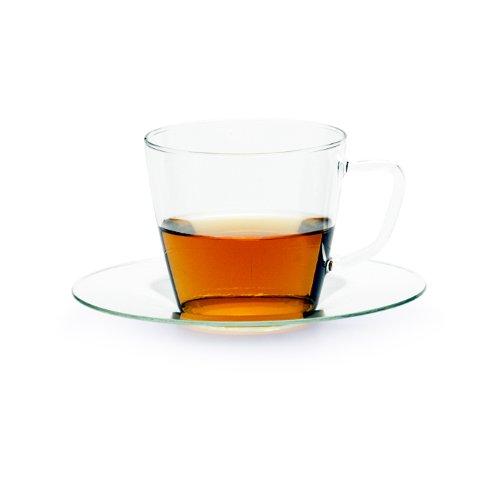 Trendglas Jena Tasse Nova mit Glasunterteller, 0,25 Liter