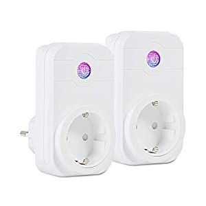 WiFi Smart Plug (2-Pack) Smart Socket Remote Control, No Hub Required, Compatible with Alexa and Google Assistant(EU Socket)