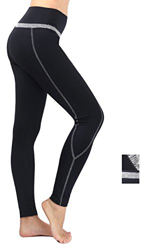 Munvot Tailored Geschenke Tummy Control Yoga Pants Sport Leggings Hohe Taille Fitnesshose Blickdichte Leggings Sporthose Strech Sweathose Schwarz#1 M