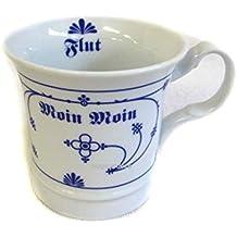 Strohblume Porzellan 2er Set Fingerhut indisch blau