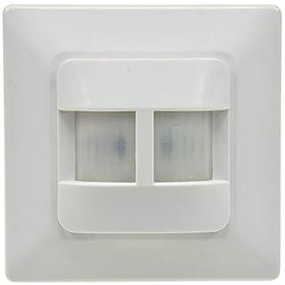 Bewegungsmelder Unterputz Einbau 180° Sensor I für LED geeignet 9m Reichweite 2-Draht Ersatz für einen Schalter