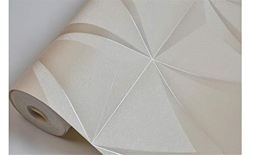 Luxus Kunstleder Weiche Tasche Seide Tapete für Wände 3D Modern Vinyl Wand Papier Rollen für Wohnzimmer Ktv Wand Decke Dekor, Cream color, 10m x 0.53m (Tasche Imperial Und Papier)