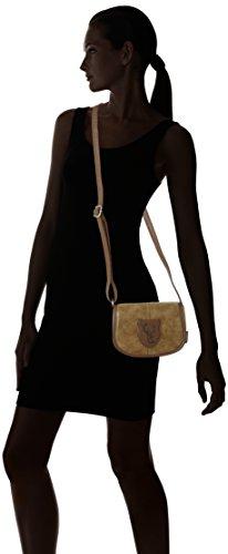 Lady Edelweiss Damen Trachtentasche Umhängetasche, 6 x 15 x 20 cm Braun (Braun)