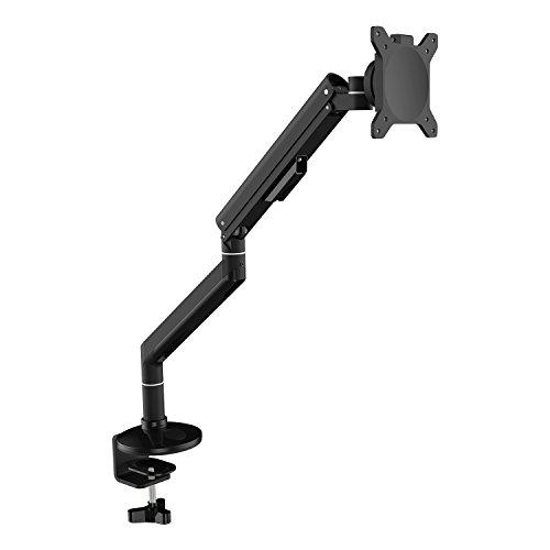 """AIMEZO Aluminium Monitor Arm Mount Heavy Duty Single LCD Arm Tischhalterung, Passend für 14"""" - 32"""" Monitor Unterstützung Gewicht von 4-8 kg (Schwarz)"""