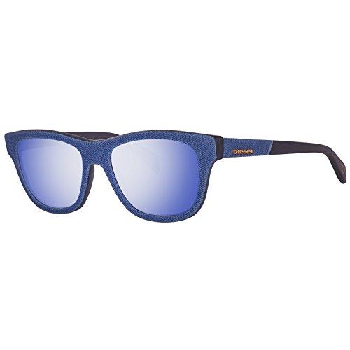 Diesel Unisex-Erwachsene DL0111 5292Y Sonnenbrille, Blau, 52